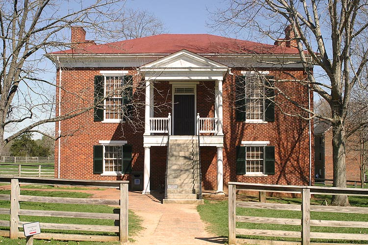 The reconstructed version of the Appomattox Court House