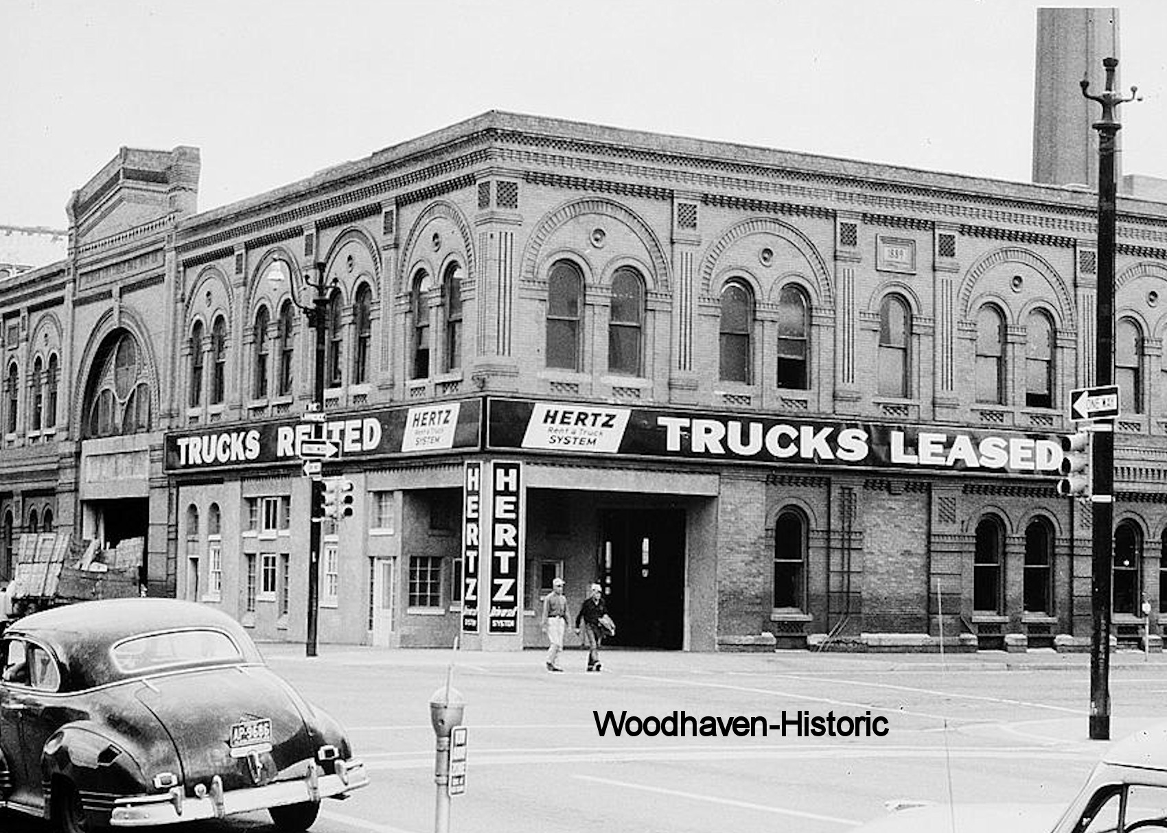 Denver City Railway Company Building in 1959 (woodhavenhistoric.com)