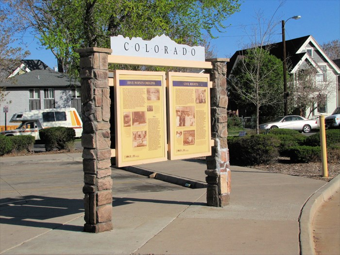 This marker offers a brief history of the neighborhood and is located near the entrance to the Park-N-Ride station.