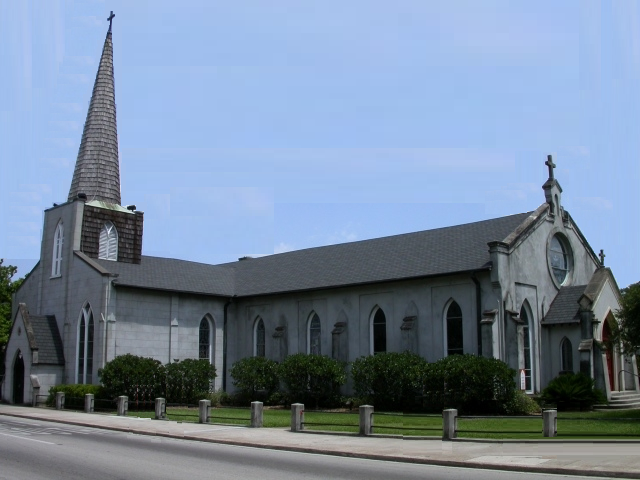 Trinity Episcopal Church was founded in 1821, which coincided with the city's establishment.