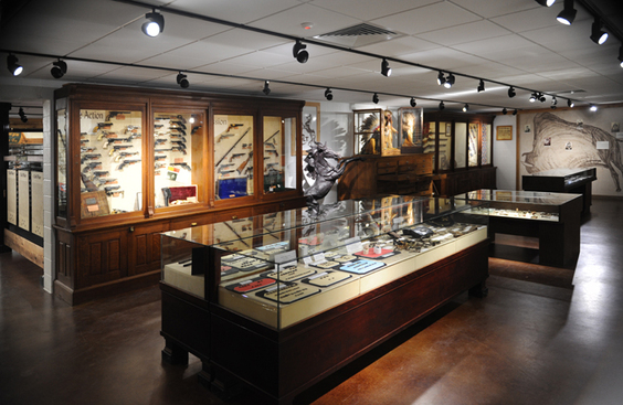 The exhibit area of the visitor's center at Fort Chadbourne.