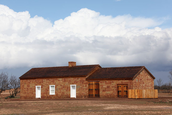 The Butterfield stage station, part of the Fort Chadbourne living-history site, was restored from little more than a pile of rubble.