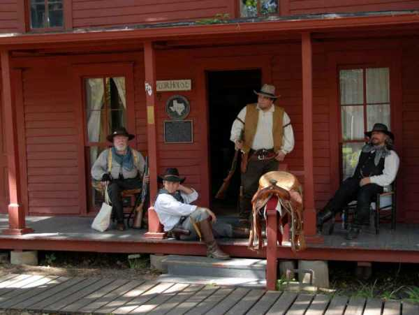 From time to time the Chestnut Square Historic Village hosts historical reenactments. One of those, shown in this photo, was the Spirit of the Cowboy Festival, held in 2012.