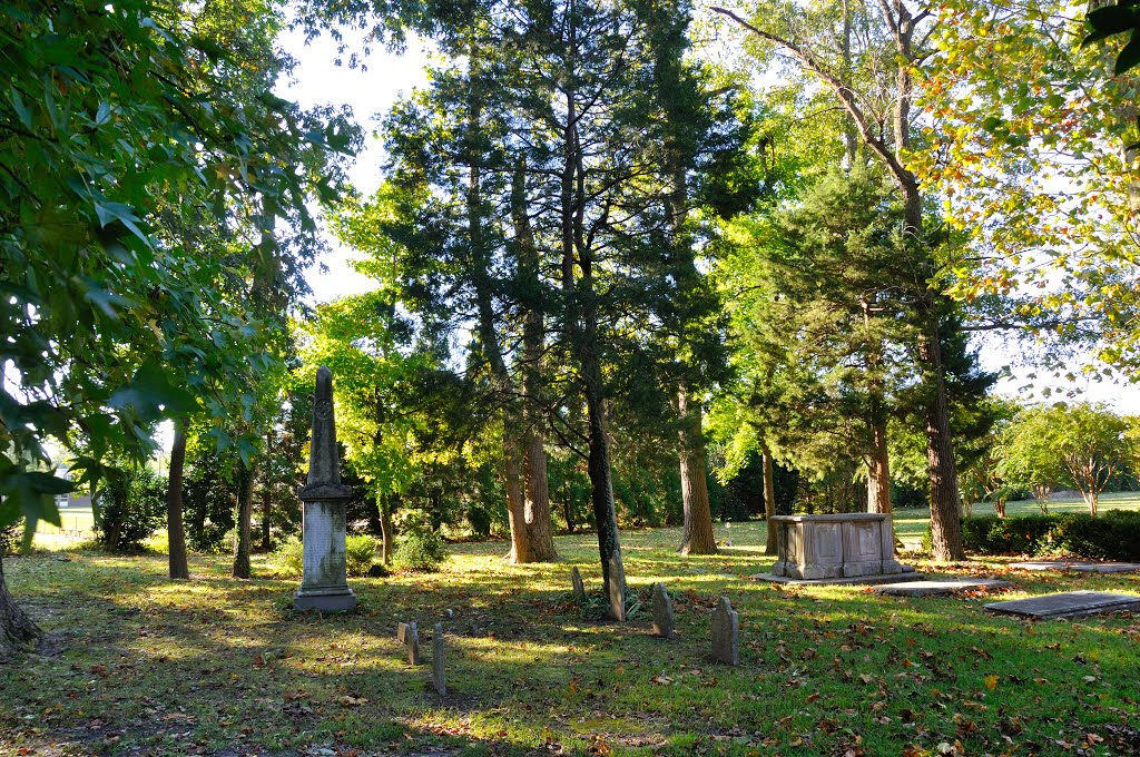 Old Donation Church graveyard