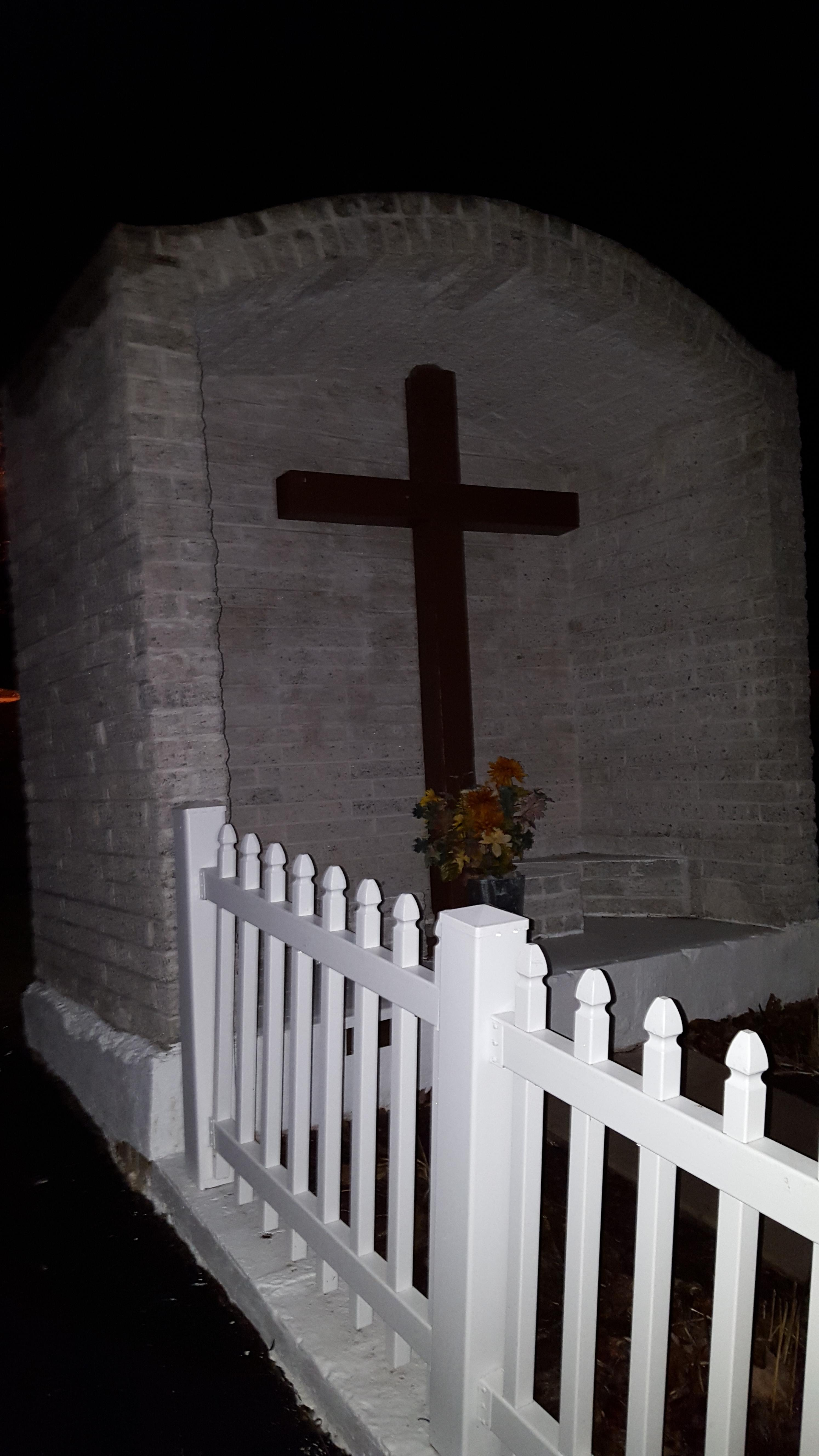 Cross outside the Assumption of the Blessed Virgin Mary