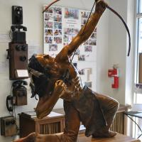 The Wind Spirit sculpture is the centerpiece of the Gaines County Museum in Seminole, Texas.