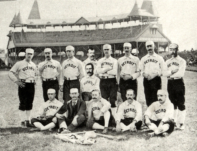 Thompson's Wolverines in Boston during their final season in 1888.