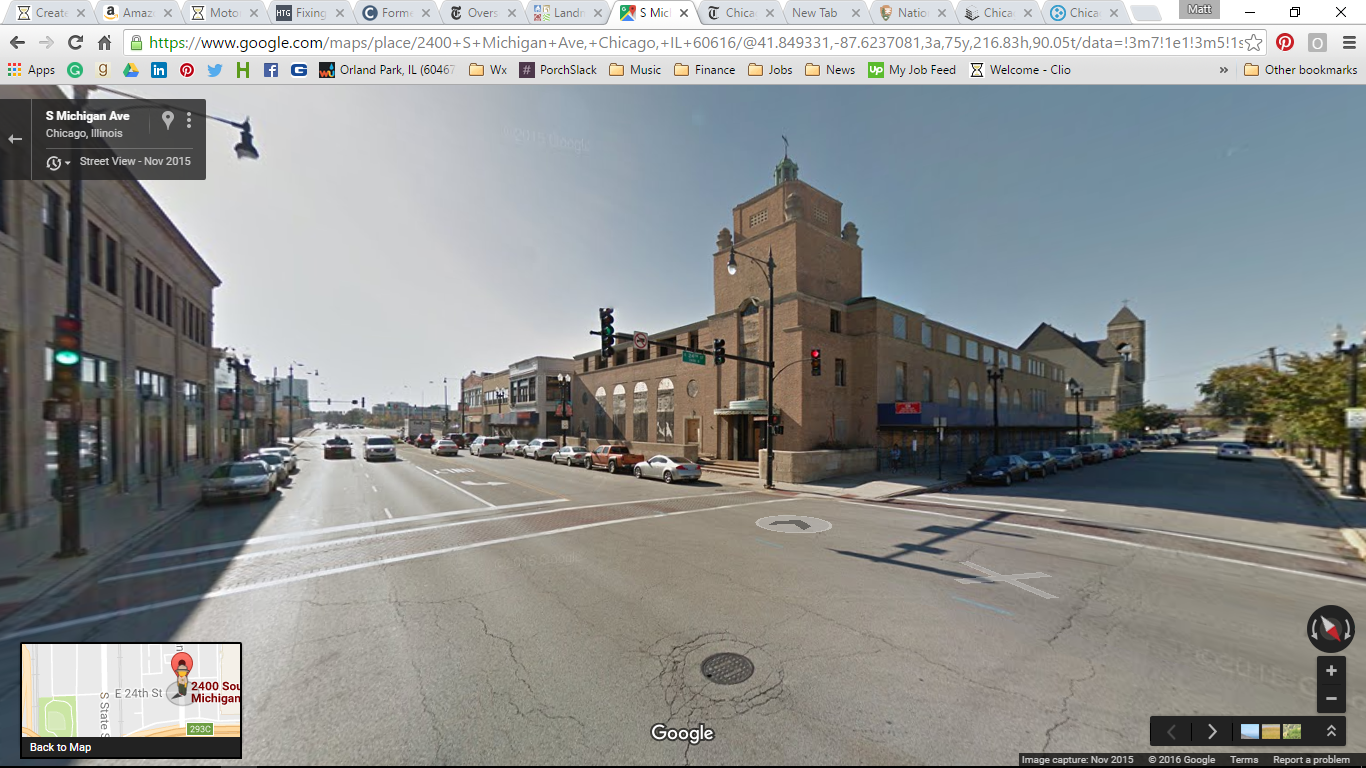 Photo of the building, once home to the Chicago Defender and Illinois Auto Club. Photo Credit: Google Maps.