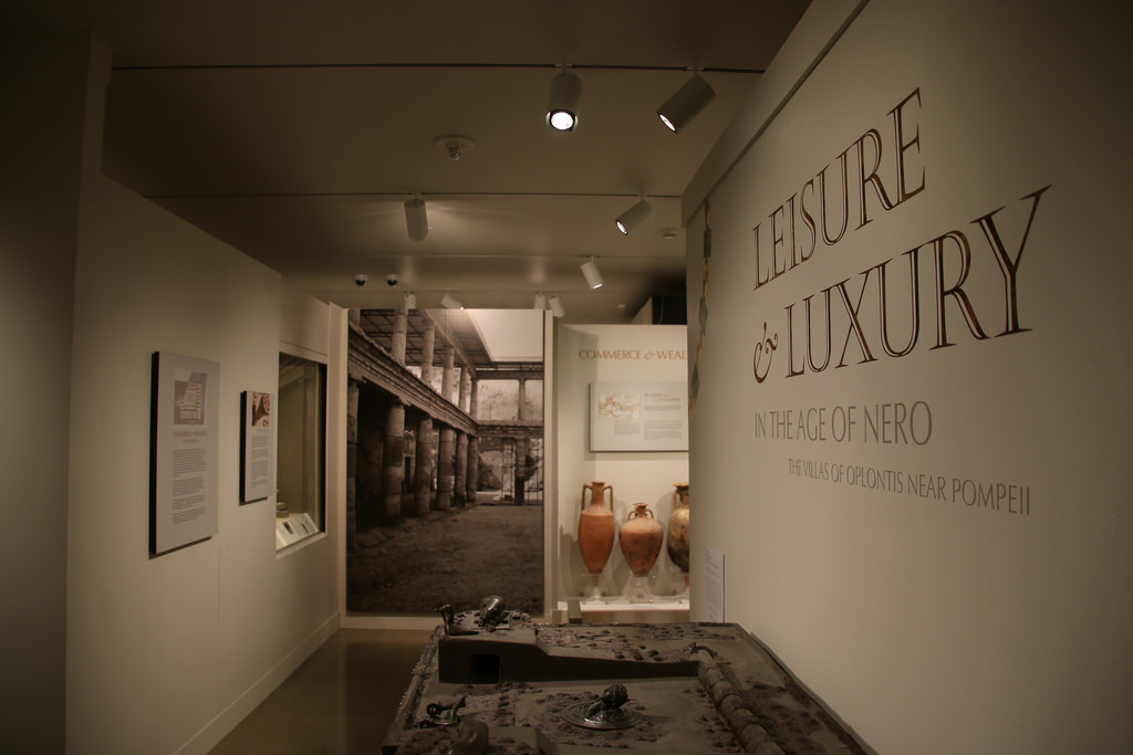 A temporary exhibit in the Kelsey Museum