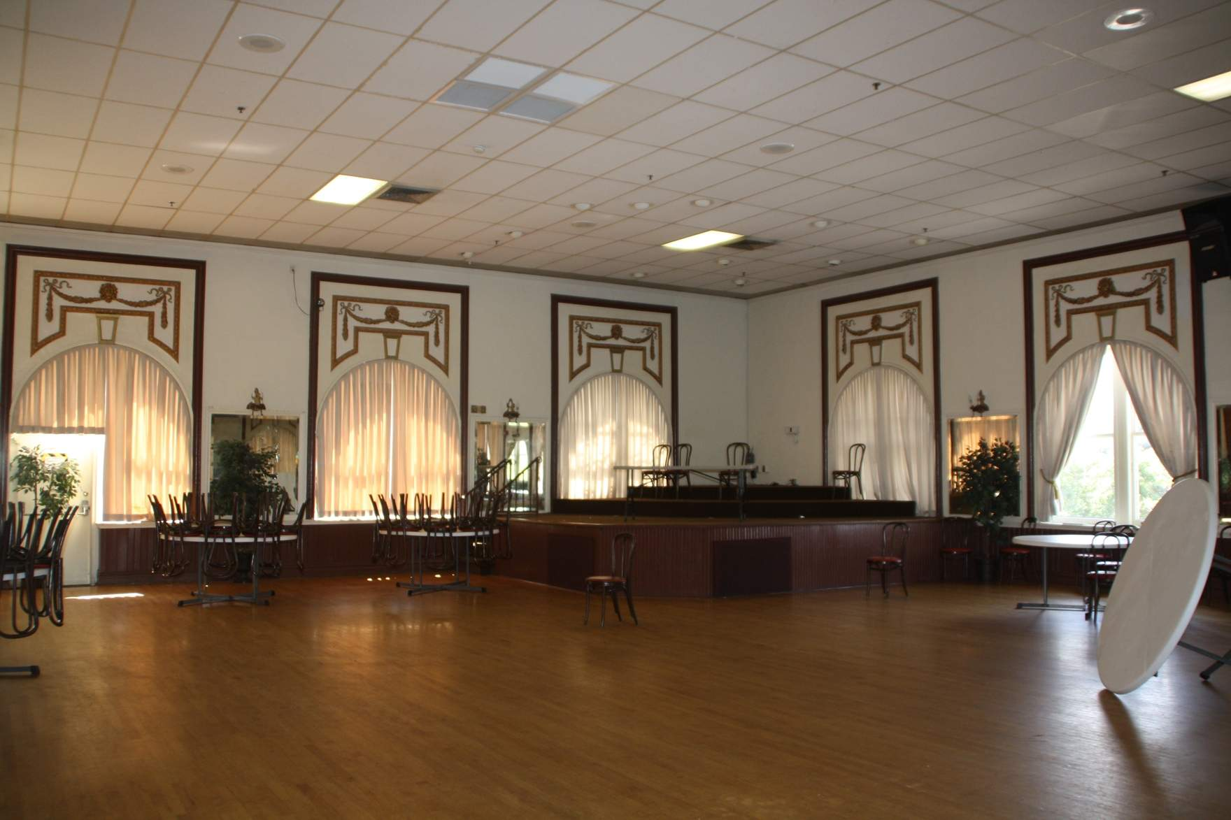 A view of the Centro's third-floor ballroom