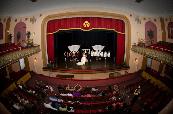 The stage and auditorium of the Centro's theatre