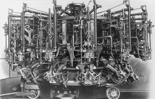 The bottle-making machine helped transform the glass industry. (Courtesy of WVSA)