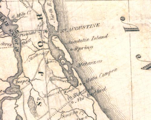 1837 J. Lee Williams map depicting the location of Mala Compra