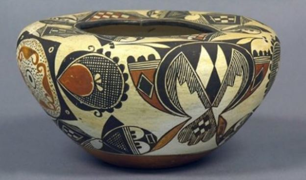 A South American painted vase