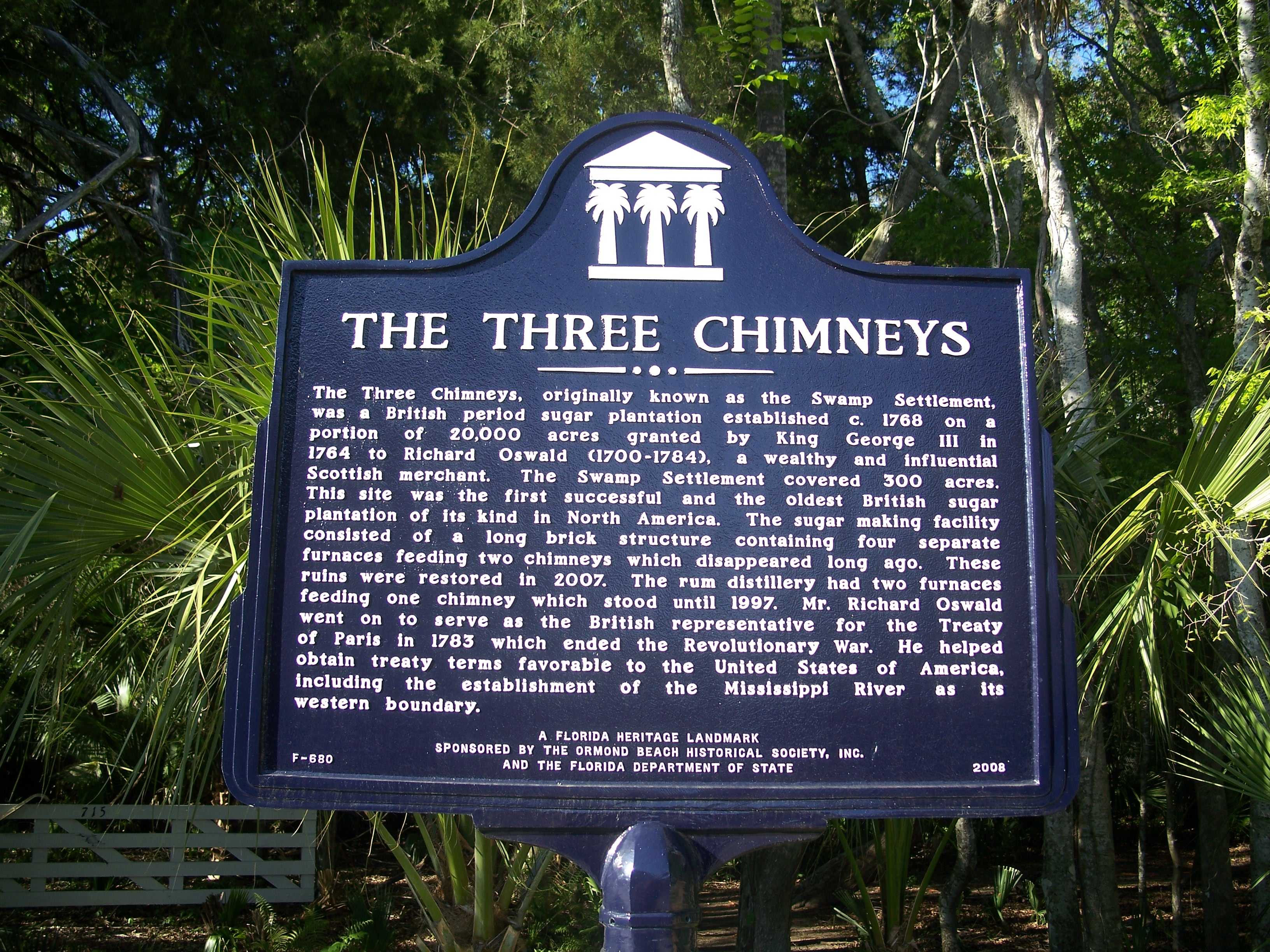 Historic Marker at the Three Chimney's Archaeological Site
