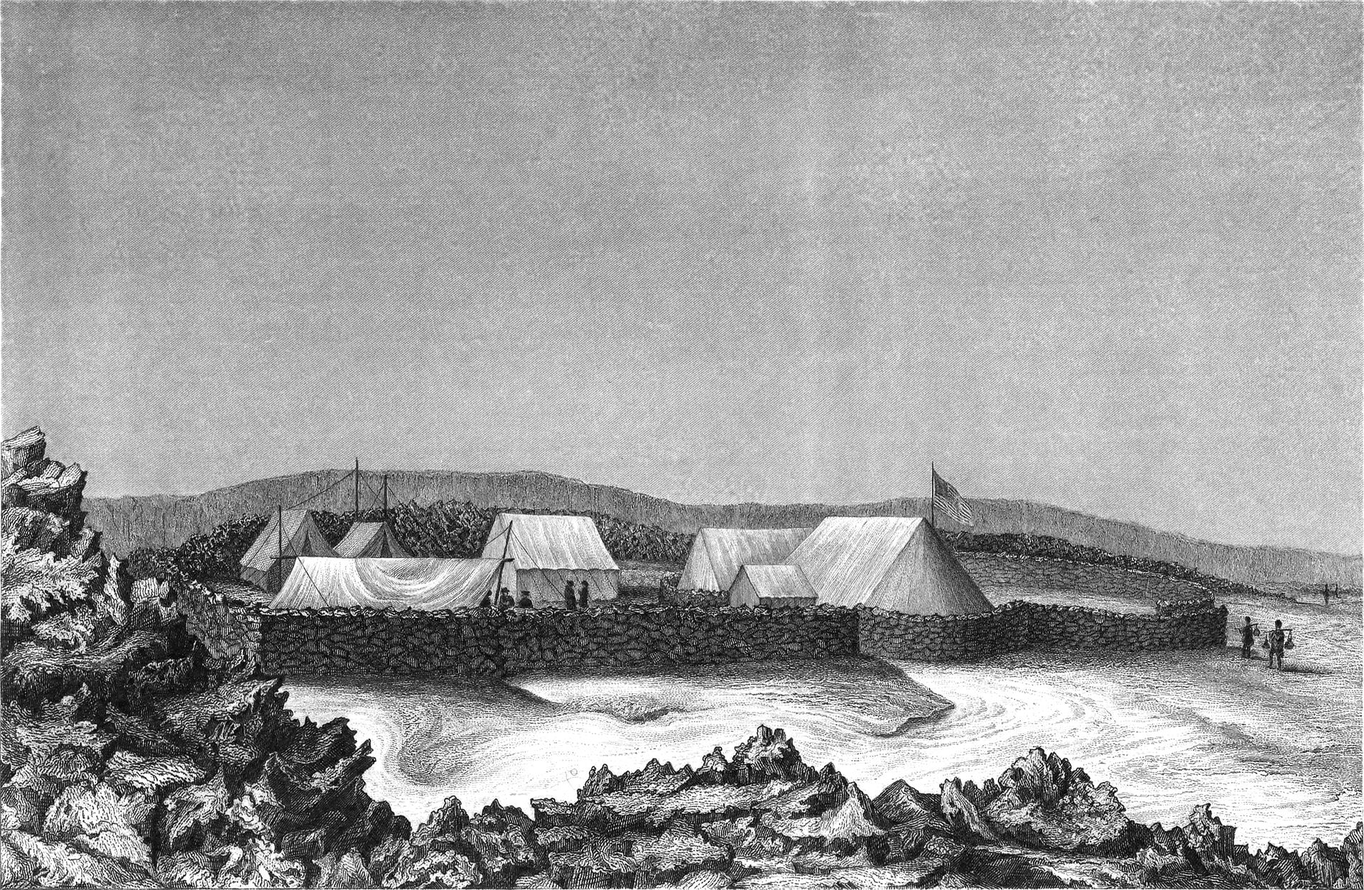 Sketch of the campsite