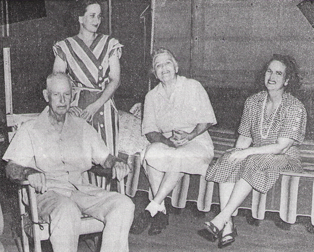 C. Homer, Florence, Edith, and Ruth Chambers, circa 1950.