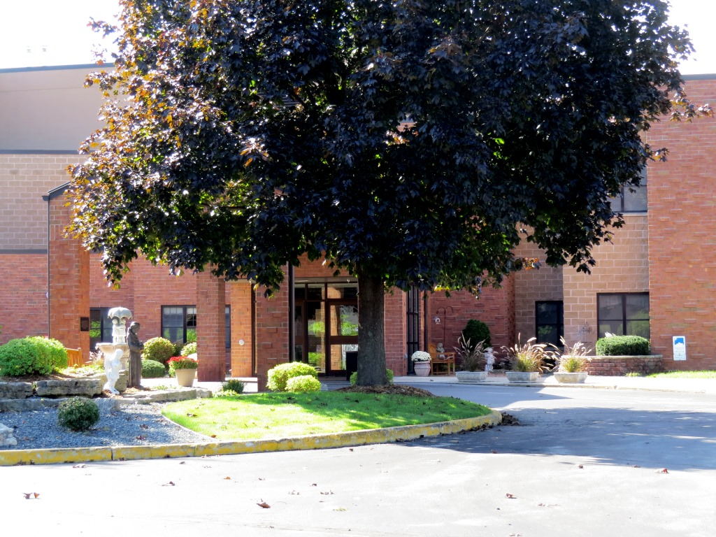 Entrance to St. Francis Home complex, 2020.