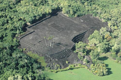 Aerial view of Piʻilanihale Heiau