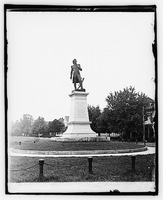 Photo taken after monument was erected in 1906