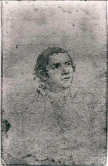 Undated John Trumball sketch of Hugh Mercer