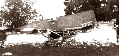 Dunker Church, destroyed after the storm