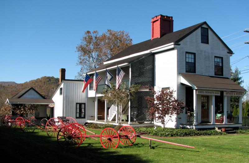 The Lemuel Chenoweth house was constructed in 1856 and today serves as a local history museum.