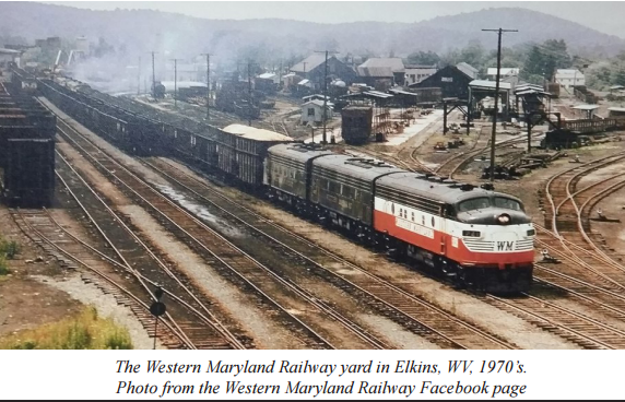 The Western Maryland Railway yard, Elkins, WV 1970s