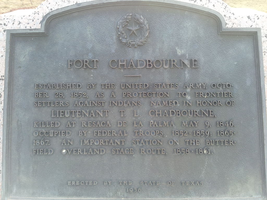 The Fort Chadbourne historical marker