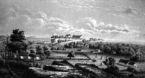 A drawing of Fort Chadbourne, 1854
