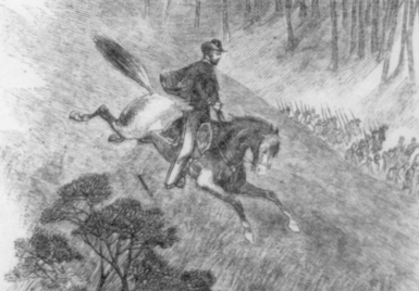 Colonel Frederick Lander's ride at the Battle of Philippi, 1861.