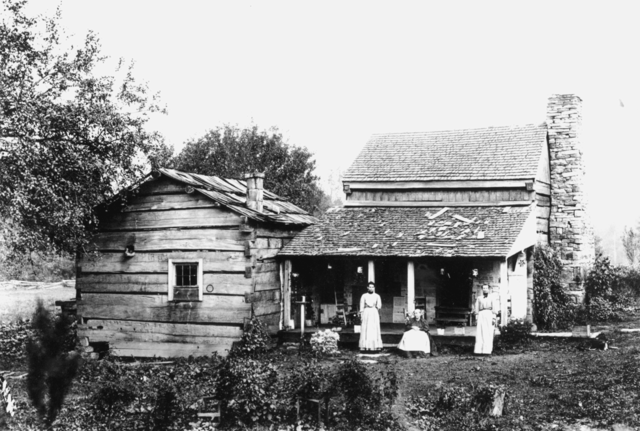 An Helvetia homestead, about 1900.