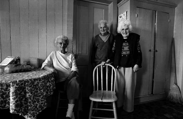 Three Balli sisters posed for this photograph in 1998 in the kitchen of the Balli home.