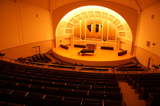 Pease Auditorium inside