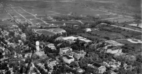 View of EMU's campus, circa 1947