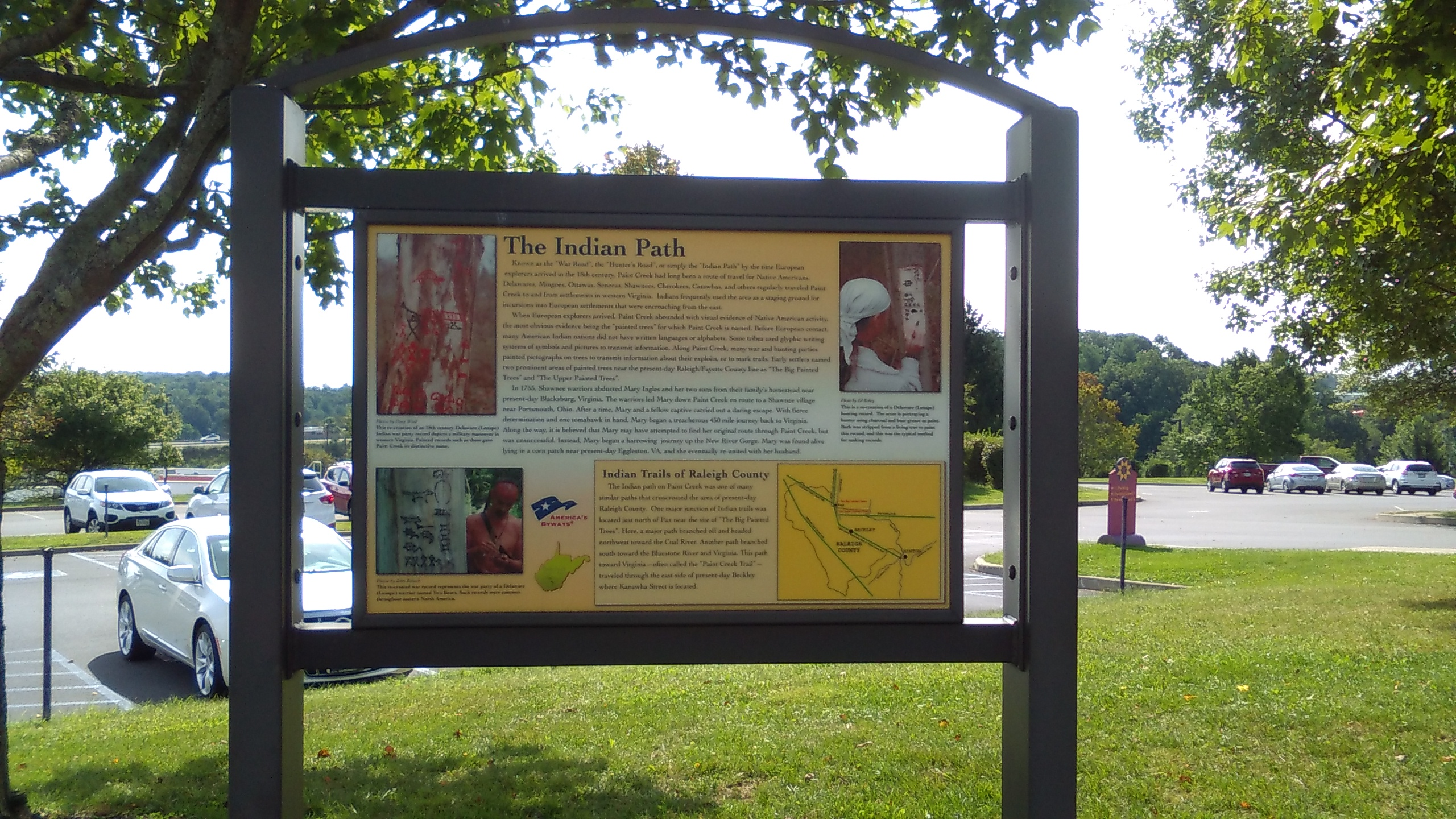 Indian Path Historical Marker Photo by Scott George Sept. 2016