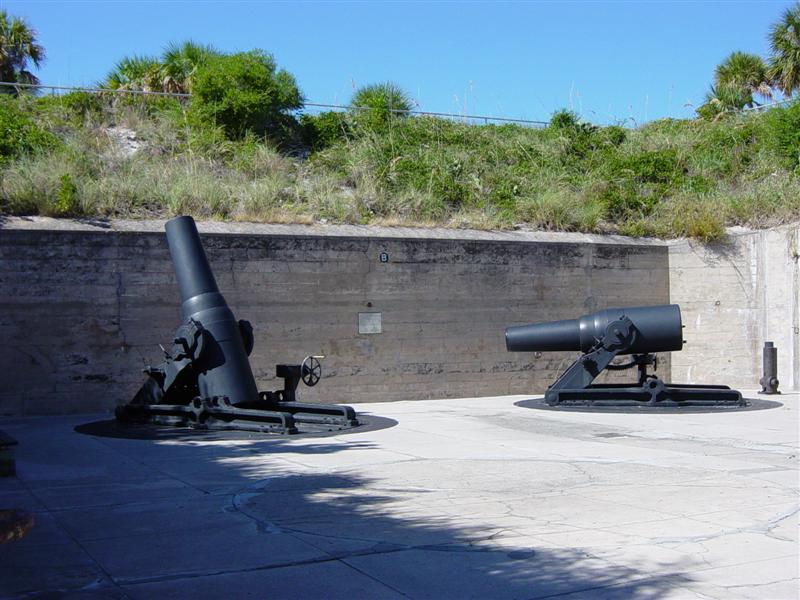 Two of the four 12-inch M1890-M1 morters