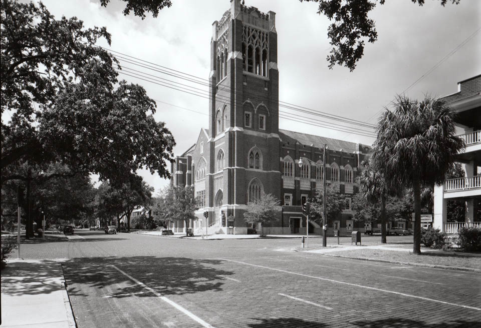 The church as it appeared in 1950