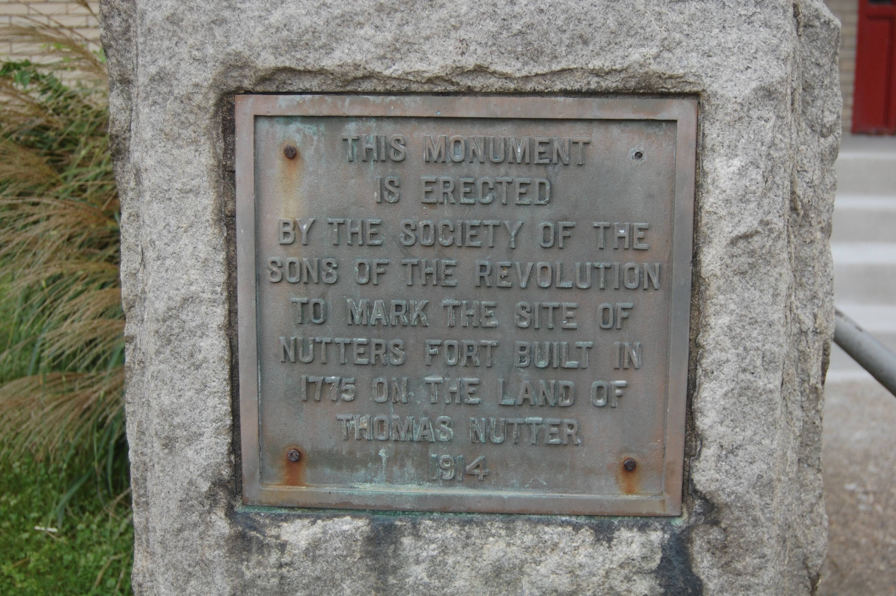 This is the marker at the site of the fort, now West Virginia Business College.