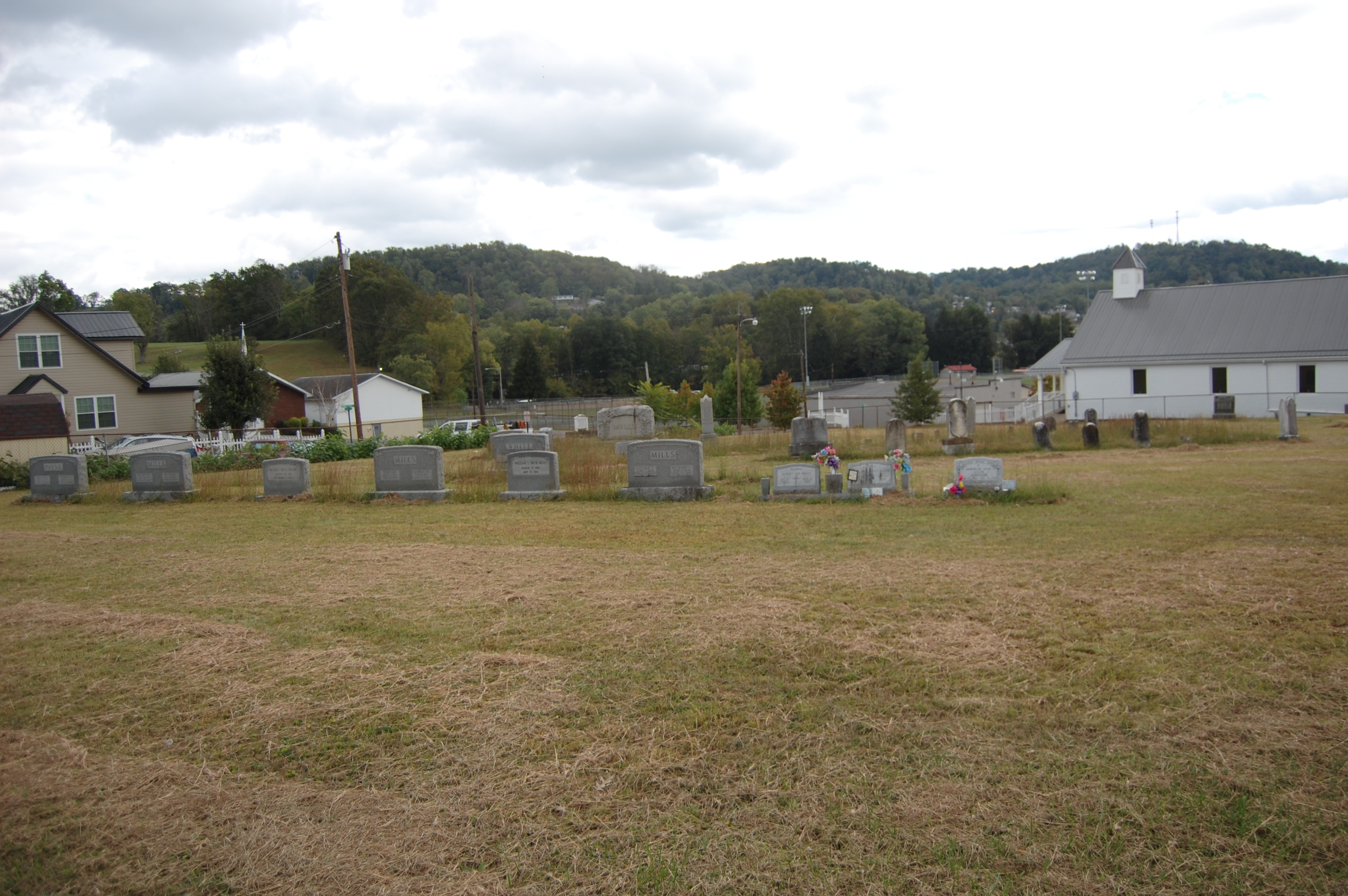 This is the Nutter Fort Cemetary located behind the City Building.