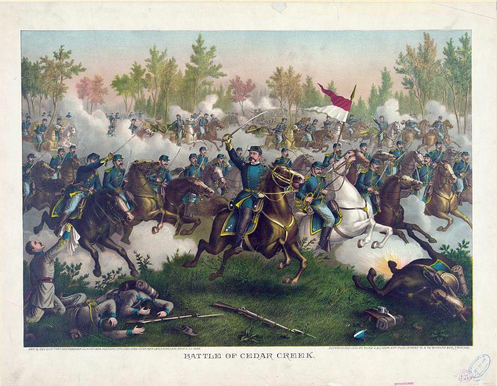Battle of Cedar Creek, by Kurz & Allison (1890)