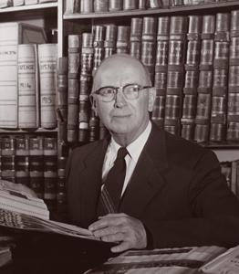 Lewis Vander Velde, UM professor and the first collector of the archives that would become the Bentley Historical Library