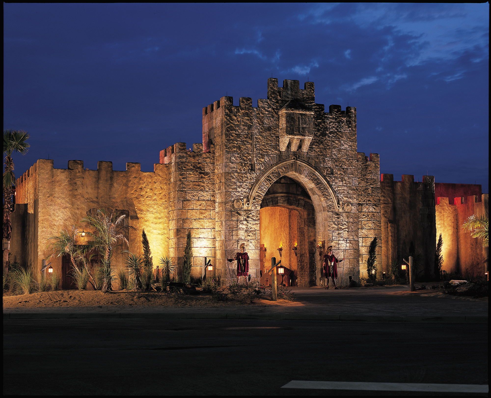 View of the City Gate in Holy Land, Florida