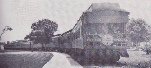 "The ""Pinellas Special"" on its was to the resort, circa 1900"