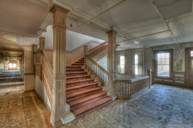 One of the large staircases, 2012