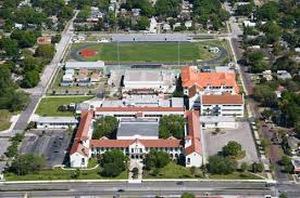 Aerial view of the high school