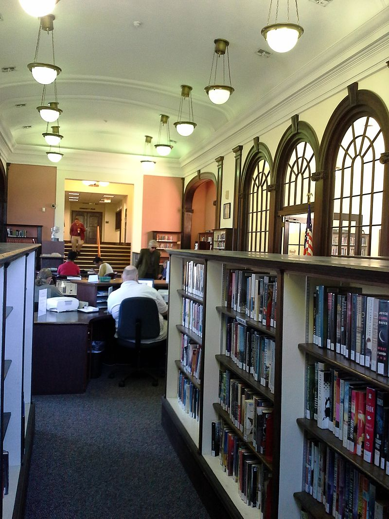 Interior of the library as seen today