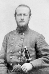 Captain John William Pearson of the CSA who was in command of the Tampa batteries that took part in the battle.