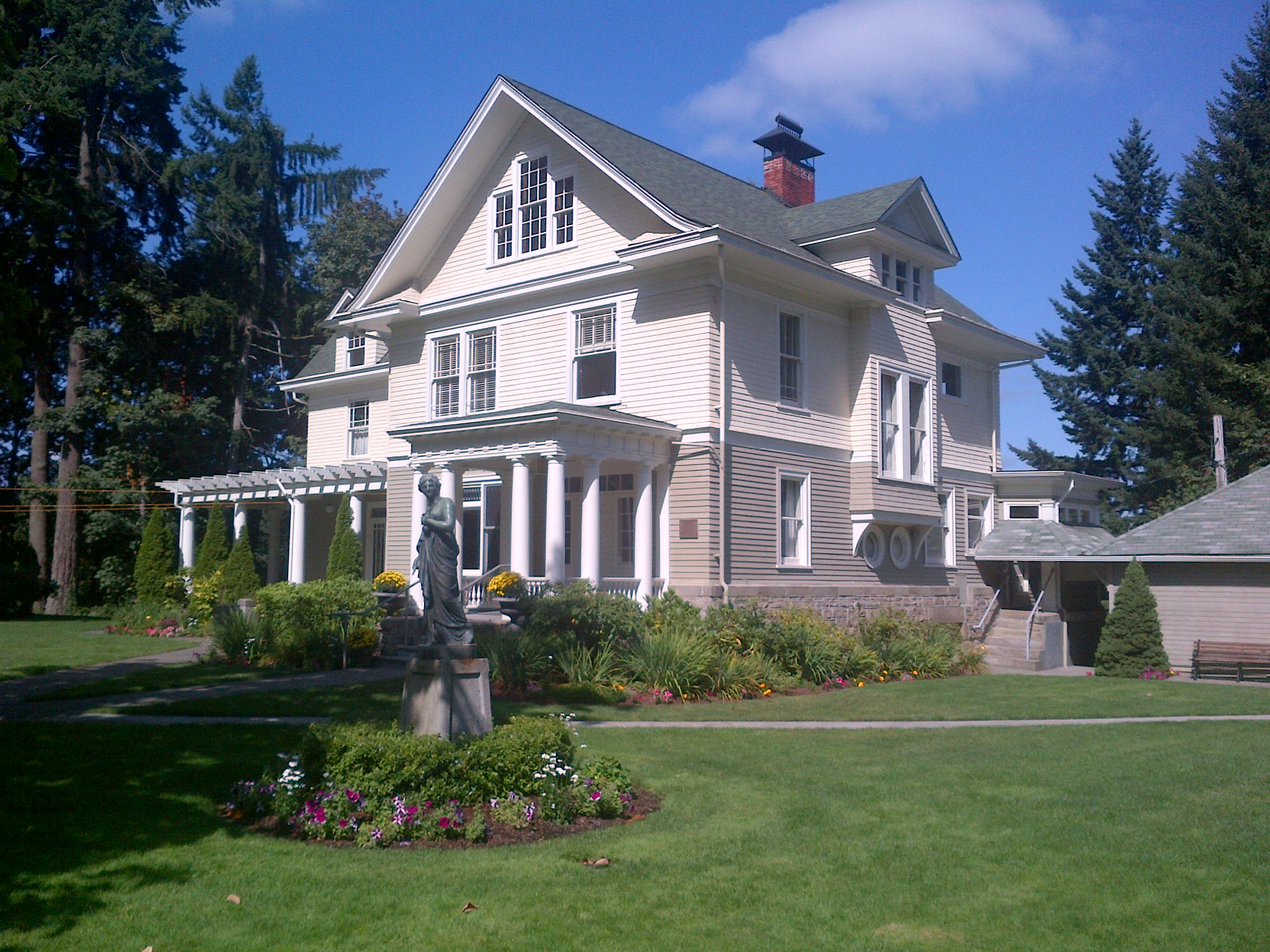 The Schmidt House, built in 1904 by brewer Leopold Schmidt, is one of Olympia's most historic homes.