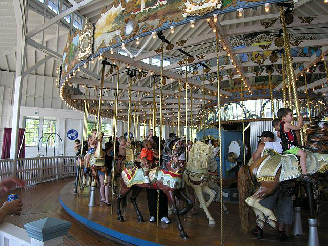 The carousel in operation
